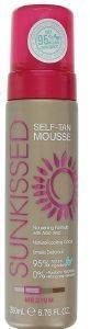 SELF TAN SUNKISSED PROFESSIONAL INSTANT TAN MOUSSE 95% NATURAL INGREDIENTS MEDIUM 200ML