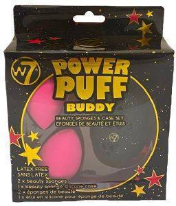 POWER PUFF W7 BUDDY BEAUTY SPONGE & CASE SET