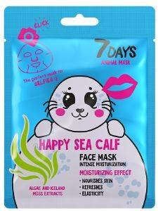 ΜΑΣΚΑ ΠΡΟΣΩΠΟΥ 7 DAYS ANIMAL HAPPY SEA CALF SHEET MASK 28G