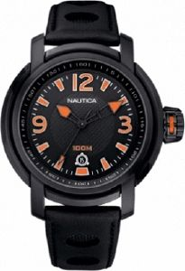 ΡΟΛΟΙ NAUTICA SPORT BLACK LEATHER STRAP