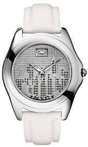 ΓΥΝΑΙΚΕΙΟ ΡΟΛΟΙ MARC ECKO THE ECKO CITY WHITE LEATHER STRAP