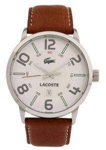 ΑΝΔΡΙΚO ΡΟΛOΙ LACOSTE SPORTSWEAR BROWN LEATHER STRAP