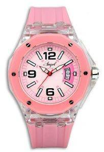 ΓΥΝΑΙΚΕIΟ ΡΟΛOΙ ANGEL PINK RUBBER STRAP ρολόγια γυναικεια λοιπα καουτσουκ