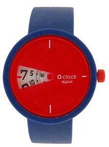 ΓΥΝΑΙΚΕΙΟ ΡΟΛΟΙ O CLOCK WATCH DIGITAL ΚΟΚΚΙΝΟ ME ΛΟΥΡΑΚΙ ΣΙΛΙΚΟΝΗΣ ΜΠΛΕ (S) ρολόγια γυναικεια λοιπα σιλικονη