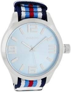 ΑΝΔΡΙΚΟ ΡΟΛΟΙ OOZOO XXL TIMEPIECES MULTICOLOR FABRIC STRAP B6604-A