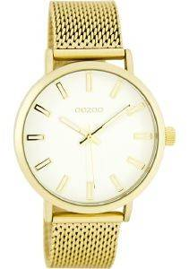 ΓΥΝΑΙΚΕΙΟ ΡΟΛΟΙ OOZOO TIMEPIECES GOLD METAL STRAP C7952
