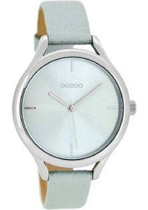 ΓΥΝΑΙΚΕΙΟ ΡΟΛΟΙ OOZOO TIMEPIECES LIGHT GREY LEATHER STRAP C8346