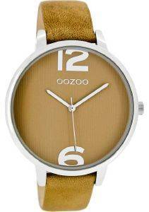 ΓΥΝΑΙΚΕΙΟ ΡΟΛΟΙ OOZOO TIMEPIECES BROWN LEATHER STRAP C8341