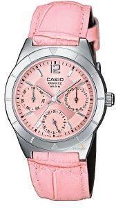 ΓΥΝΑΙΚΕΙΟ ΡΟΛΟΙ CASIO COLLECTION LTP-2069L-4AVEF ΡΟΖ ρολόγια γυναικεια casio δερματινα