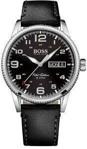 ΑΝΔΡΙΚΟ ΡΟΛΟΙ HUGO BOSS 1513330 PILOT  WATCH LEATHER ZB BLACK