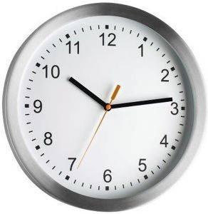 TFA 98.1045 BRUSHED ALUMINIUM WALL CLOCK gadgets ρολογια τοιχου