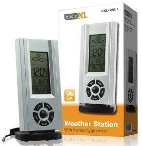BASICXL BXL-WS 11 WEATHER STATION WITH THERMO HYGROMETER