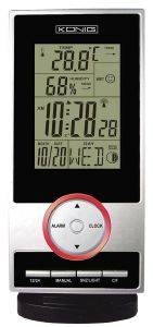 KONIG KN-WS 200 WEATHER STATION WITH RADIO CONTROLLED CLOCK