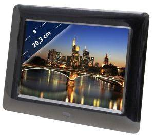 BRAUN DIGIFRAME 800 WEATHER 8'' MULTIMEDIA PHOTO FRAME WITH SPEAKERS/WEATHER STATION