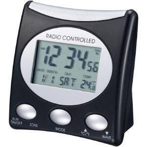 TECHNOLINE WT 221 T - RADIO CONTROLLED CLOCK BLACK gadgets ρολογια επιτραπεζια