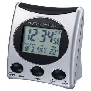 TECHNOLINE WT 221 - RADIO CONTROLLED CLOCK SILVER gadgets ρολογια επιτραπεζια