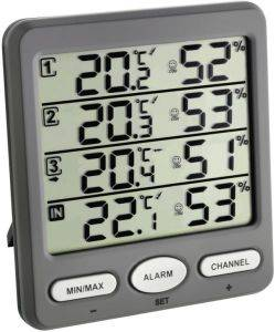 TFA 30.3054.10 CLIMATE MONITOR WIRELESS THERMO-HYGROMETER gadgets weather stations weather stations