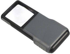 CARSON PO-55 MINIBRITE 5X SLIDE-OUT LOUPE WITH LED
