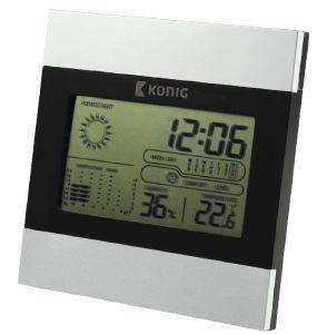 KONIG KN-WS102N LCD CLOCK AND WEATHER STATION