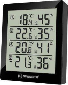 BRESSER TEMEO HYGRO QUADRO BLACK gadgets weather stations weather stations