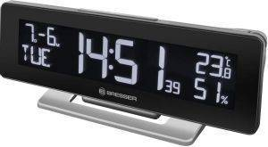 BRESSER TEMEO TBT TEMPERATURE STATION AND RC ALARM CLOCK BLACK gadgets weather stations weather stations
