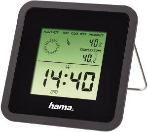 HAMA 113987 TH50 THERMOMETER/HYGROMETER BLACK