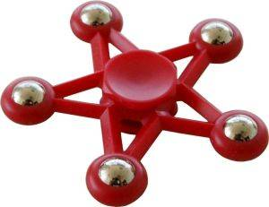 SPINNER FIVE STAR 5 METAL BALL RED