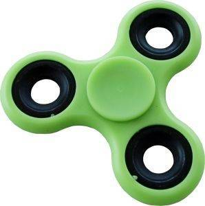 SPINNER GLOWING IN THE DARK LUMINOUS GREEN