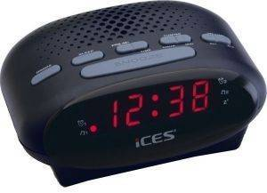 LENCO ICR-210 FM CLOCK RADIO BLACK