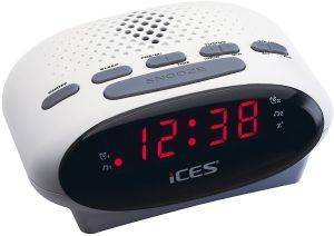 LENCO ICR-210 FM CLOCK RADIO WHITE