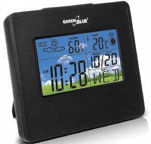 GREENBLUE GB148B WEATHER STATION CLOCK MOON CALENDAR BLACK gadgets weather stations weather stations