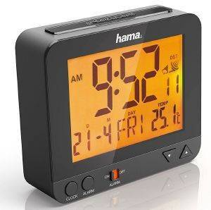 HAMA 113966 RC 550 RADIO CONTROLLED ALARM CLOCK WITH NIGHT LIGHT FUNCTION