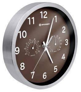 BRESSER MYTIME THERMO-/ HYGRO- WALL CLOCK 25CM BROW gadgets ρολογια τοιχου