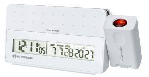 BRESSER MYTIME PRO PROJECTION ALARM CLOCK WHITE 8010031 gadgets ρολογια επιτραπεζια