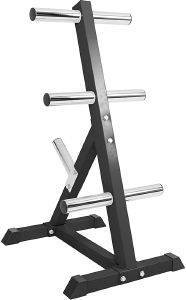 ΒΑΣΗ ΓΙΑ ΒΑΡΗ GORILLA SPORTS OLYMPIC WEIGHT PLATE RACK 4 BRANCHES ΜΑΥΡΗ
