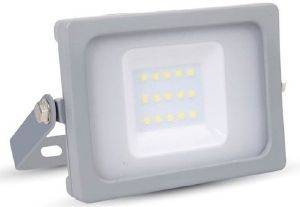 LED FLOODLIGHT V-TAC SMD SLIM 10W 5782 GREY COOL WHITE