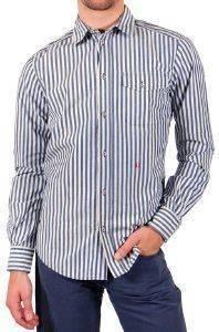 ΠΟΥΚΑΜΙΣΟ ΜΑΚΡΥΜΑΝΙΚΟ AJ ARMANI JEANS ΛΕΥΚΟ  ΜΠΛΕ ΡΙΓΕ Πουκάμισο Aj Armani Jeans ριγέ Ένα μοντέρνο πουκάμισο  από εξαιρετικής ποιότητας ύφασμα με κανονική εφαρμογή Με σχέδιο στις αποχρώσεις του μπλε και λε