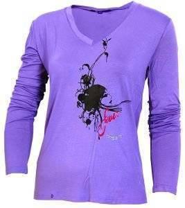 UNGARO ΜΩΒ ΜΠΛΟΥΖΑ ΜΕ ΣΤΑΜΠΑ (M) ένδυση  amp  υπόδηση προσφορεσ γυναικα μπλουζεσ μπλουζεσ μακρυμανικεσ