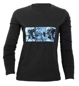 UNGARO ΜΑΥΡΗ ΜΠΛΟΥΖΑ ΜΕ ΣΤΑΜΠΑ ένδυση  amp  υπόδηση προσφορεσ γυναικα μπλουζεσ μπλουζεσ μακρυμανικεσ