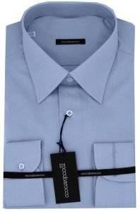 ROCCOBAROCCO ΣΙΕΛ ΠΟΥΚΑΜΙΣΟ  Μονόχρομο σιέλ ROCCOBAROCCO πουκάμισο 100 Βαμβάκι Σιέλ Χωρίς κουμπιά Μονή Πλύσιμο στους 40