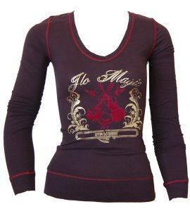 ΜΠΛΟΥΖΑ ΜΑΚΡΥΜΑΝΙΚΗ JLO ΜΕ ΧΡΥΣΗ ΣΤΑΜΠΑ ΜΩΒ ένδυση  amp  υπόδηση προσφορεσ γυναικα μπλουζεσ μπλουζεσ μακρυμανικεσ