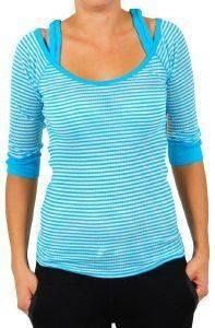ΜΠΛΟΥΖΑ ΜΑΚΡΥΜΑΝΙΚΗ JLO ΡΙΓΕ ΛΕΥΚΟ/ΤΥΡΚΟΥΑΖ (L) ένδυση  amp  υπόδηση προσφορεσ γυναικα μπλουζεσ μπλουζεσ μακρυμανικεσ