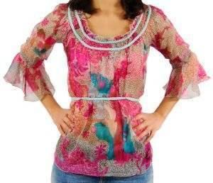 ΤΟΥΝΙΚ JLO CTHRU ΕΜΠΡΙΜΕ ένδυση  amp  υπόδηση προσφορεσ γυναικα μπλουζεσ μπλουζεσ μακρυμανικεσ
