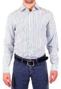 ΠΟΥΚΑΜΙΣΟ ΜΑΚΡΥΜΑΝΙΚΟ JOOP ΛΕΥΚΟ ΜΕ ΜΠΛΕ ΡΙΓΕΣ  39 Πουκάμισο JOOP  ριγέ Ένα μοντέρνο πουκάμισο με μακρύ μανίκι από εξαιρετικής ποιότητας ύφασμα κανονική εφαρμογή Σε λευκό χρώμα μπλε και γαλάζιες κάθετε