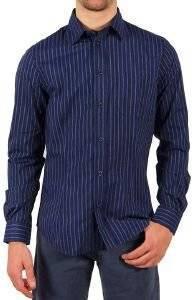 ΠΟΥΚΑΜΙΣΟ JOOP ΜΠΛΕ ΡΙΓΕ L  Πουκάμισο Aj Armani Jeans σε μπλέ χρώμα με σιελ ρίγα  Ένα κλασσικό πουκάμισο από εξαιρετικής ποιότητας ύφασμα κανονική εφαρμογή LΜπλέΧωρίς κουμπιάΜονή