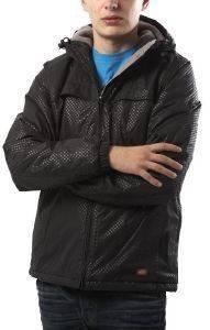 ΜΠΟΥΦΑΝ DICKIES ΜΑΥΡΟ ME ΓΚΡΙ ΛΕΠΤΟΜΕΡΕΙΕΣ (L) ένδυση ανδρασ μπουφαν σακακια μπουφαν