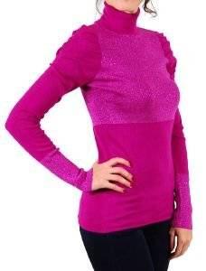 ΖΙΒΑΓΚΟ JLO GLITTER ΦΟΥΞΙΑ (XS) ένδυση  amp  υπόδηση προσφορεσ γυναικα μπλουζεσ μπλουζεσ μακρυμανικεσ