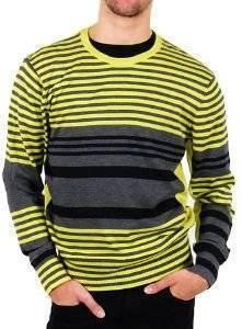 ΠΟΥΛΟΒΕΡ DKNY ΜΕ ΚΙΤΡΙΝΕΣ ΚΑΙ ΜΑΥΡΕΣ ΡΙΓΕΣ (XL) ένδυση  amp  υπόδηση προσφορεσ ανδρασ μπλουζεσ πουλοβερ