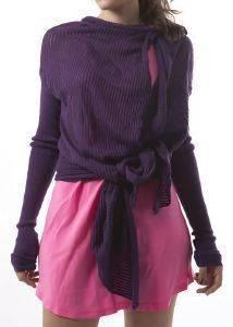 ZAKETA DKNY LADDER ΠΛΕΚΤΗ ΜΩΒ (S) ένδυση προσφορεσ γυναικα μπουφαν ζακετεσ