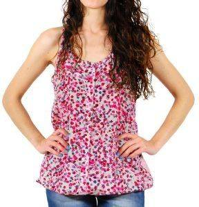 ΤOP DKNY PRINTED SILK  COTTON TUNIC FLORAL (M)
